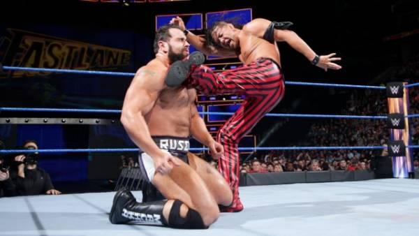 『レッスルマニア34』で中邑真輔(右)とAJスタイルズの王座戦が正式決定 (C)2018 WWE, Inc. All Rights Reserved.