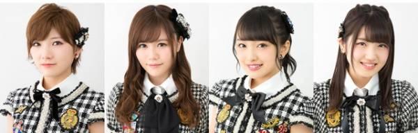 (左から)AKB48の岡田奈々、込山榛香、向井地美音、村山彩希(C)AKS
