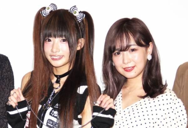 映画『それ~それがやって来たら…』初日舞台あいさつに出席した(左から)椎名ひかり、平松可奈子 (C)ORICON NewS inc.