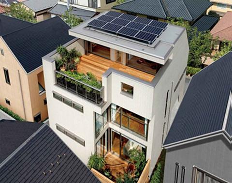 屋上庭園「みんなの庭」で、家族の絆を深める家を提案