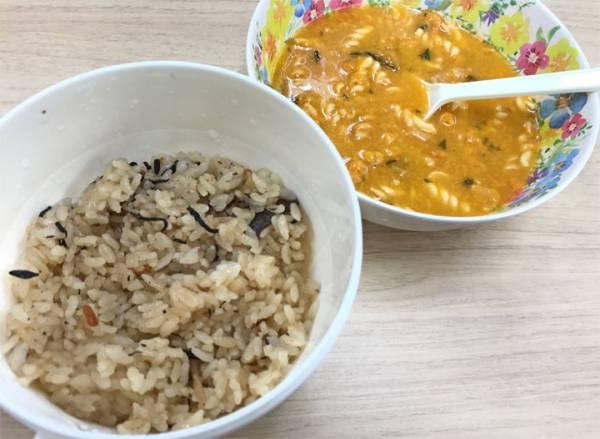 ひじきご飯スープ