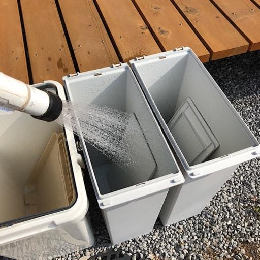 ゴミ箱の丸洗い