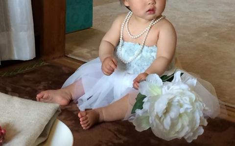 女の子のお誕生日は手作りのチュールドレスで妖精に変身!のチュールスカートと合わせれば、まるでドレスのようです。子どもがさらに可愛くなりますよ。