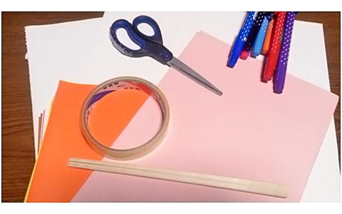 手作りうちわの作り方。子どもと一緒に簡単な夏休みの工作