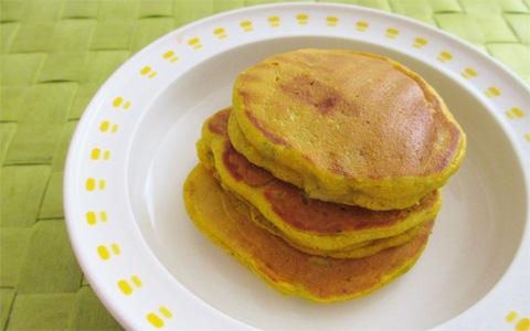 栄養満点! 安心おやつ 砂糖・ベーキングパウダー不使用のふんわりパンケーキ