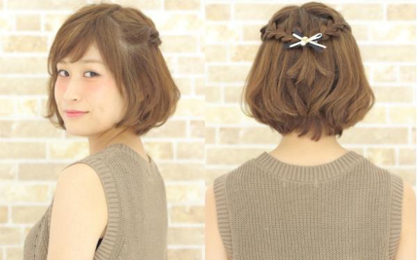 伸ばしかけのボブヘアでも出来る 可愛いヘアアレンジ Naver まとめ