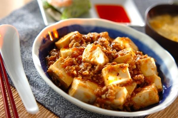 今日の献立は「麻婆豆腐」