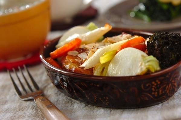 今日の献立は「鶏と野菜のオーブン焼き」