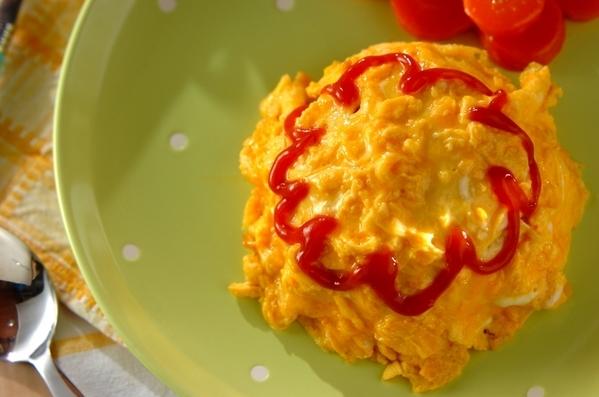 今日の献立は「とろとろ卵のオムライス」