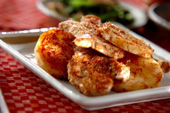 今日の献立は「豚ヒレ肉と長芋の土佐焼き」