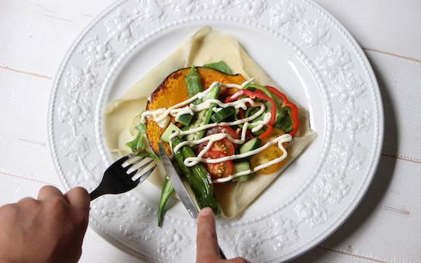 野菜が無理なくたっぷり食べられる「ガレット風ベジクレープ」【今日の時短ごはん Vol.23】