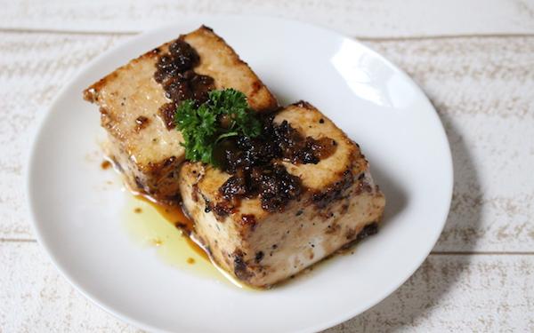 焼き肉のタレ風豆腐ステーキ