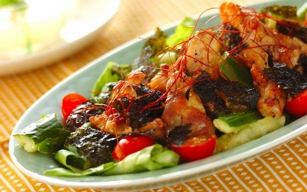 鶏肉と野菜を一緒に食べれる、ボリューム満点なチョレギサラダ