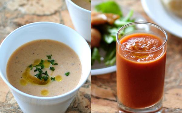 どちらも冷製スープとしていただいています。とくに朝食にいただくと、その冷たさと野菜の栄養を摂れている感じがして、体がシャキッと目覚めて健康的な気分にさせて