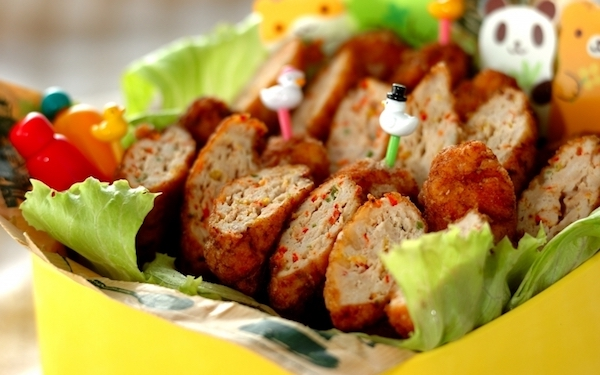 冷めても柔らかい、お弁当にピッタリなカラフルチキンナゲット