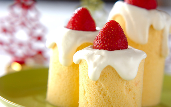キュートで作りやすい、キャンドルロールケーキ
