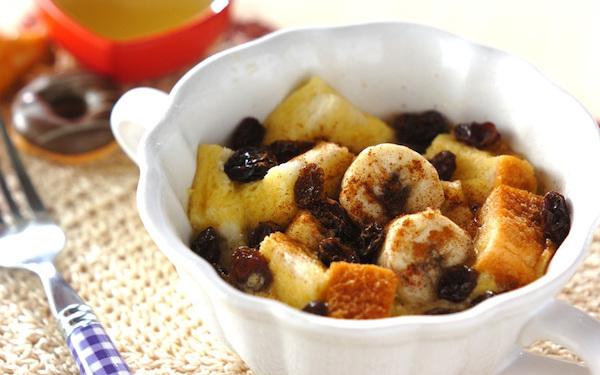 温かいうちに食べると最高! バナナdeパンプディング
