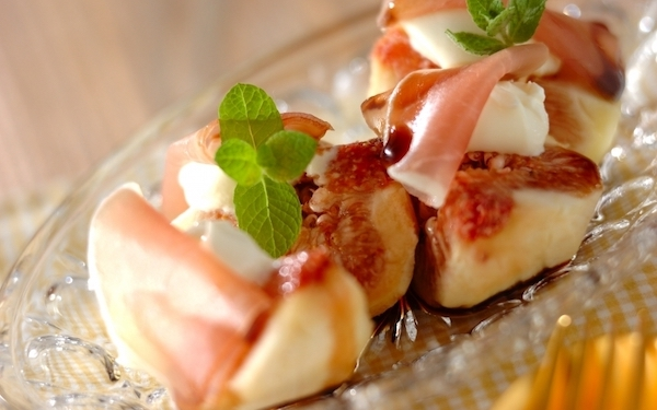 簡単なのにリッチな味わい! イチジクとチーズの前菜