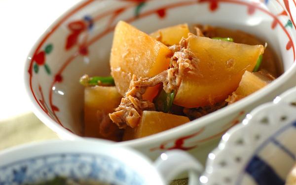 ツナ缶使ったコクのあるおかず、こくウマ大根とツナの煮物