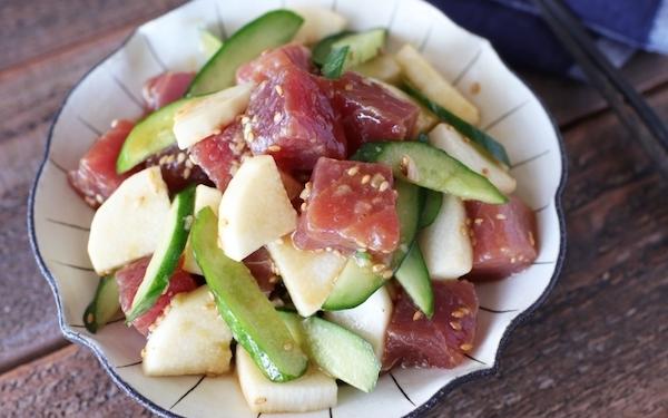 夏にうれしい簡単レシピ! 漬けまぐろときゅうりの「和えサラダ」
