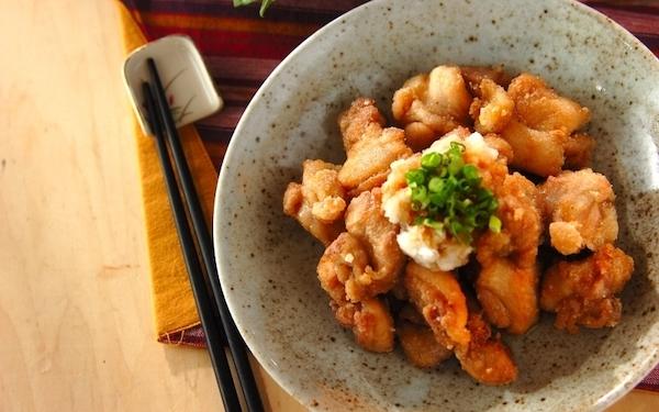 おろしポン酢でいただく! 爽やかな味わいの鶏のサクッと「竜田揚げ」