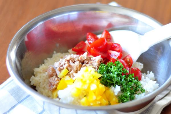 ライスサラダ作り方