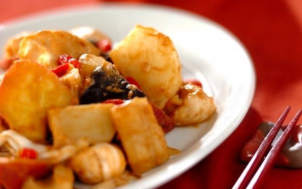 こっくり滋味深い味わい、ささ身と秋野菜の「ゴマみそ炒め」