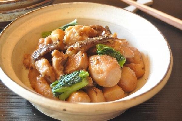 蒸して簡単! 鶏肉と里芋の煮物
