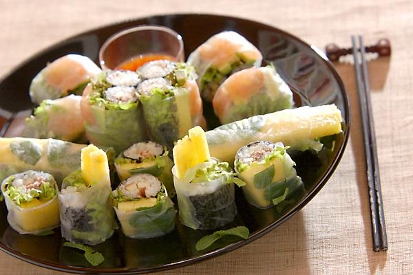 生春巻き風アジアン寿司
