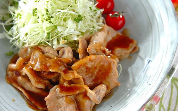 さっぱりとした味わいで食べやすさ抜群! 薄切り豚肉の「ショウガ焼き」