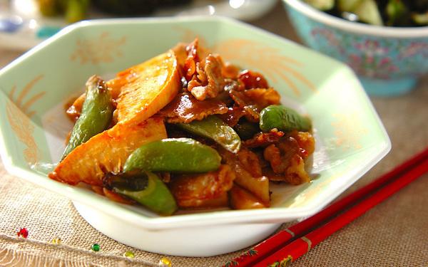 育ち盛りの子どもにもピッタリ、ガッツリ食べられる「タケノコと豚の甘辛炒め」
