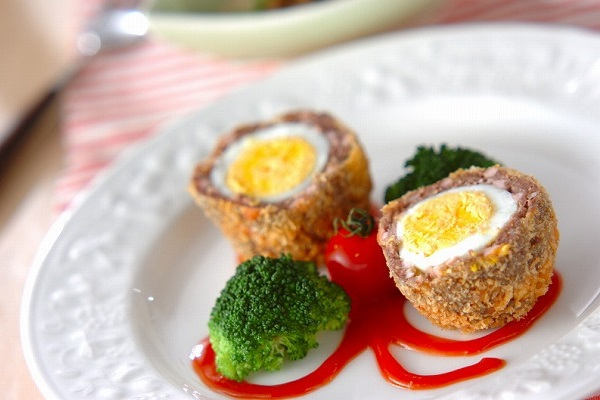 ゆで卵まるごと!スコッチエッグ