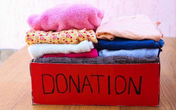 寄付する衣類