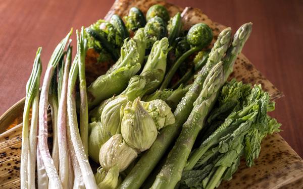 山菜、アスパラ