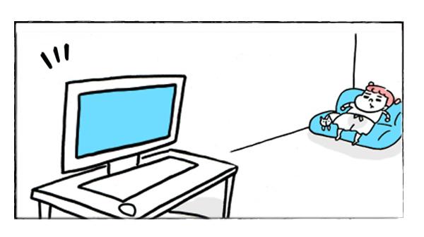 肉男ってばパソコンつけっぱなし