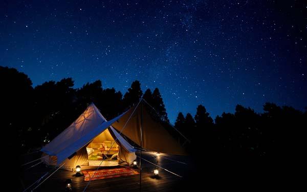 満点の星空を眺めたい「森と星空のキャンプヴィレッジ」