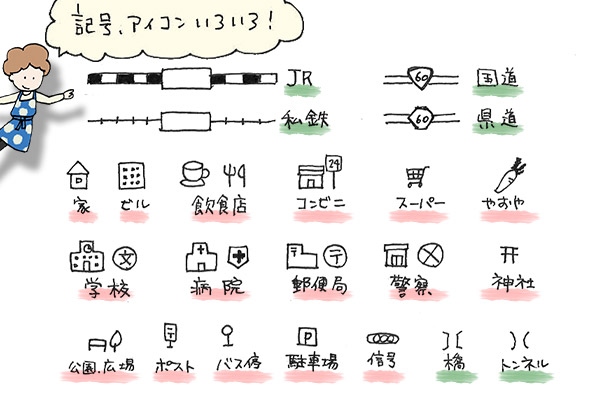 地図の書き方のコツを図解 簡単に作れる通園 通学マップ