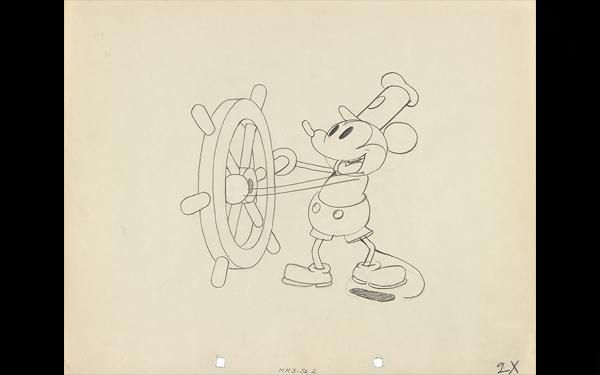 《蒸気船ウィリー》より1928年 ©Disney Enterprises, Inc.