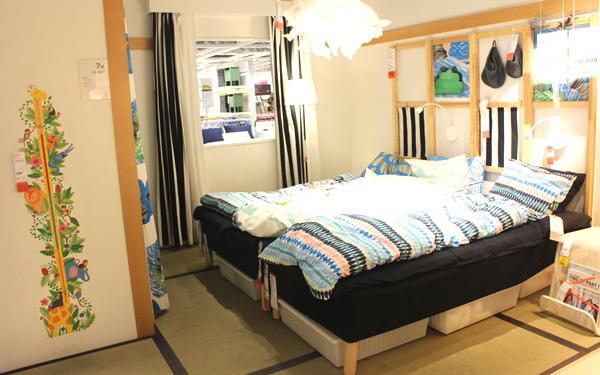 ショールームには、人によって異なるニーズに合わせてあらゆるテーマでコーディネートした約50のルームセットが展示。日本の住宅事情に合わせた和室のコーディネートもあります。