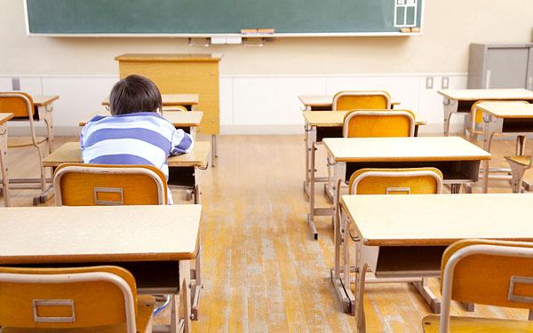 教室に一人でいる人