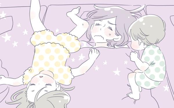 子どもとの添い寝で寝違え…「今日は別々に寝よう」と提案してみた【子育ては毎日がたからもの☆ 第3話】