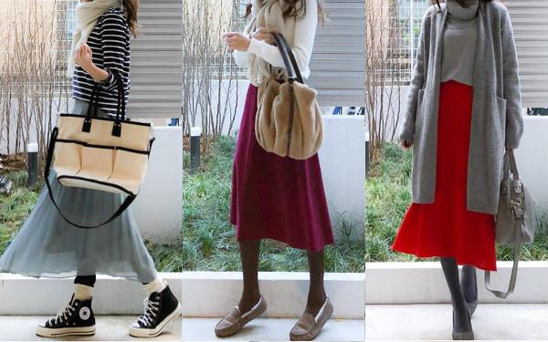 ユニクロ「キレイ色スカート」で印象が変わる! 視線集める華やかコーデ術