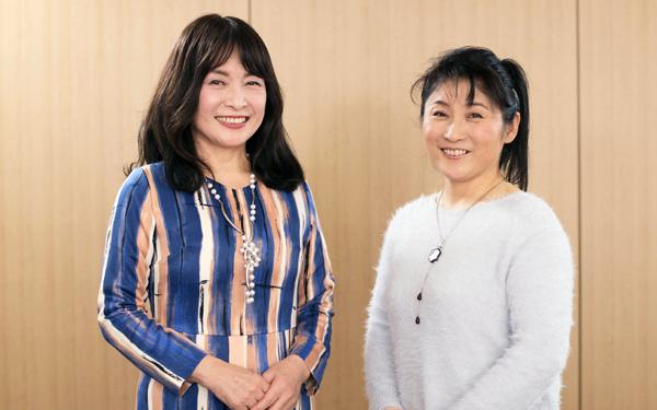 佐藤ママこと佐藤亮子さん(左)卓球選手・平野美宇さんの母・平野真理子さん(右)