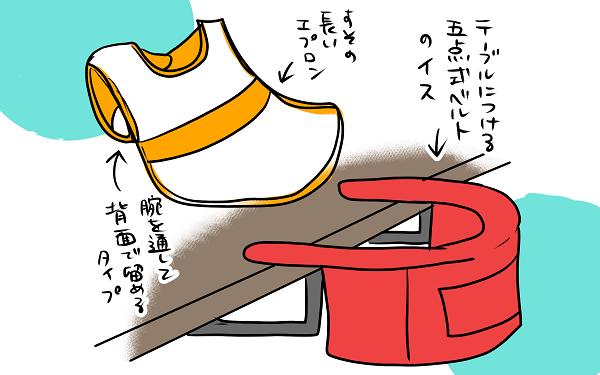 子どもの食べこぼし対策! エプロンと椅子で完璧のはずが、想定の上をいく
