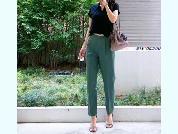 ユニクロの着やせアイテムですっきりコーデ。【ユニクロ大人コーデ~アメブロ30代ファッション1位 Hanaさん ~ Vol.30】