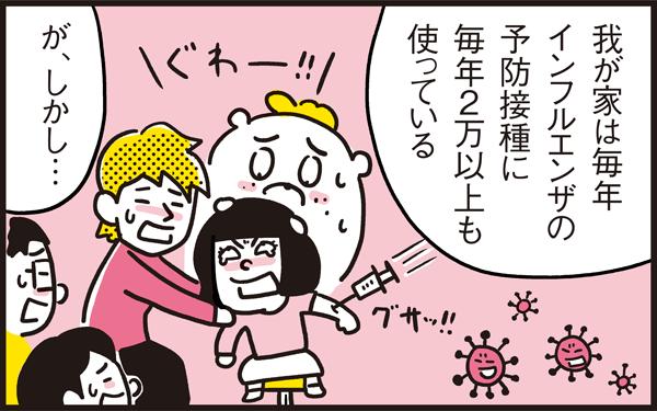 インフルエンザの予防接種は打つ? 打たない? 家族総額2万円超え…!