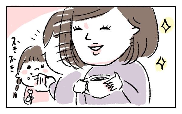 きわいどい会話をしながらも子どもをあやしご飯を食べさせるママ友さんたちの動きは、もはや職人芸。