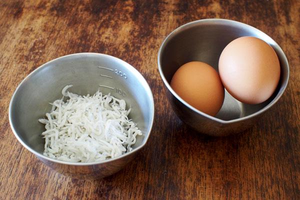 しらすと卵丼 材料
