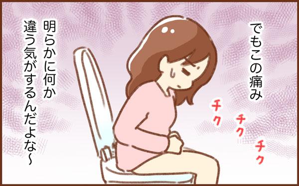 でも下腹部痛が。明らかになにか違う気がする・・・