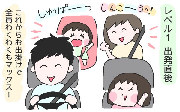 疲労度によって変わる車内の空気…子連れの車内移動に備えたい持ち物はコレ!【ひなひよ育て ~愛しの二重あご~  第18話】